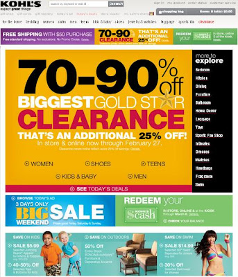 Kohls.com Coupons and Deals